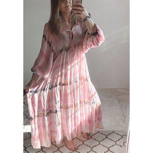 Young Fabulous & Broke Tie Dye Boho Maxi Dress